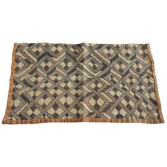 Vintage Handwoven Camel and Brown African Tribal Textile Fragment