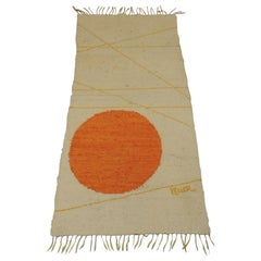 "Vintage Handwoven Carpet/Wall Hanging ""The Evening Sun"" by Keller"