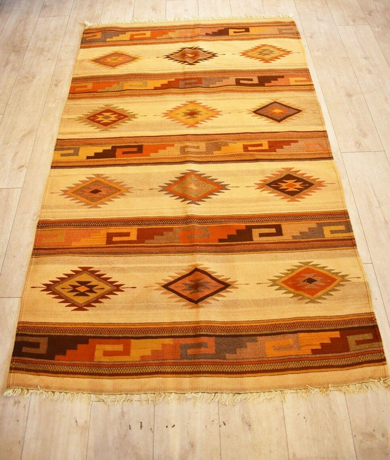 Very rare and unusual beautiful handwoven vintage Kilim runner