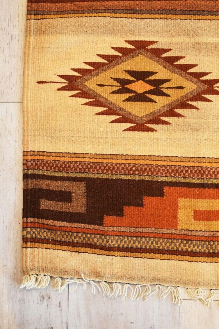 Hand-Woven Vintage Handwoven Kilim Rug / Runner Natural Dye For Sale