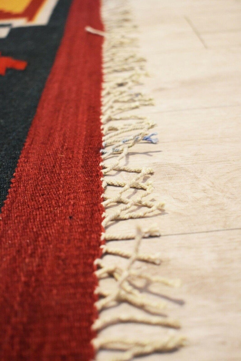 Vintage Handwoven Kilim Rug / Runner Natural Dye In Good Condition For Sale In London, GB