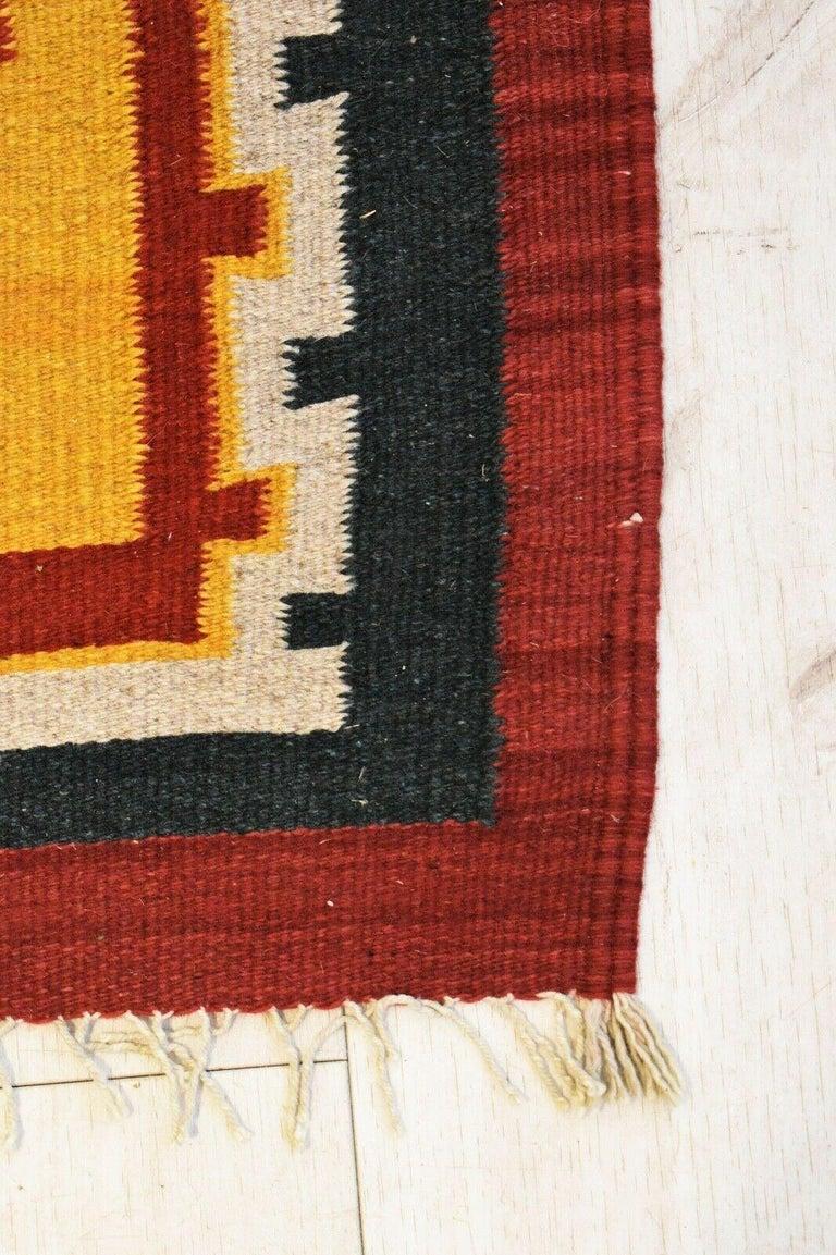 20th Century Vintage Handwoven Kilim Rug / Runner Natural Dye For Sale