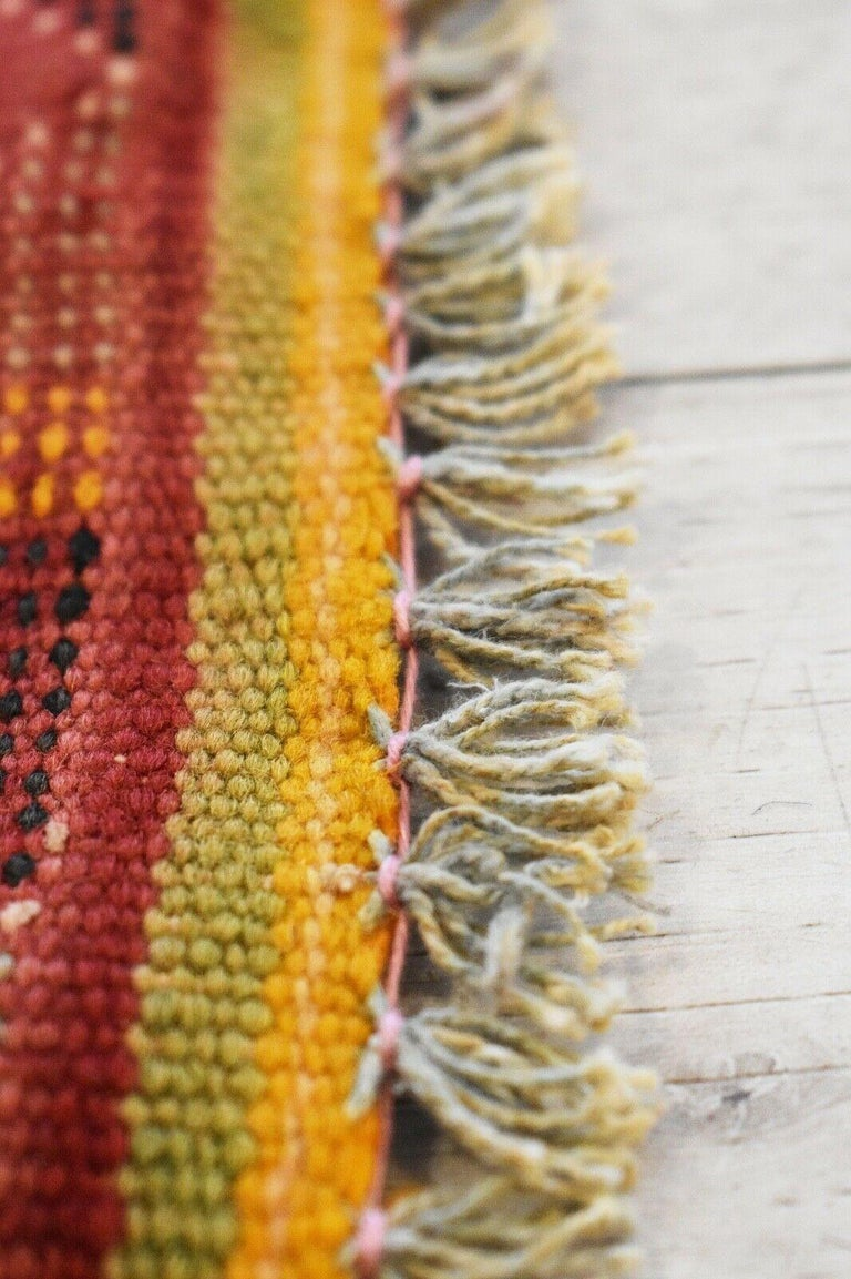 Wool Vintage Handwoven Kilim Rug / Runner Natural Dye