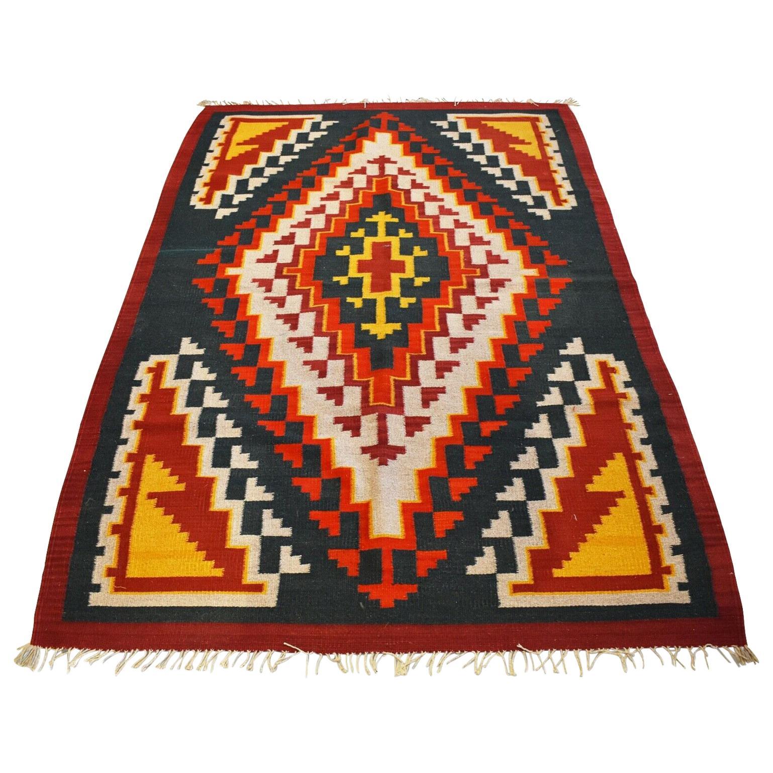 Vintage Handwoven Kilim Rug / Runner Natural Dye
