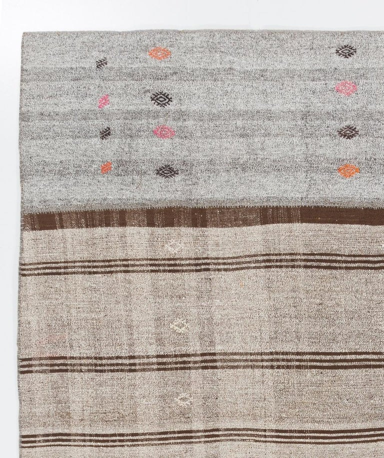 Hand-Woven Vintage Handwoven Turkish Kilim 'Flat-Weave' For Sale
