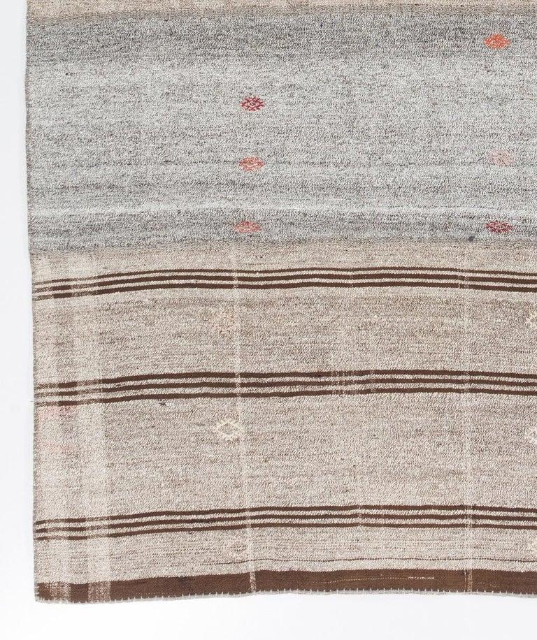 20th Century Vintage Handwoven Turkish Kilim 'Flat-Weave' For Sale