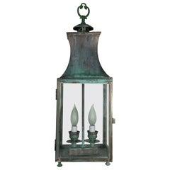 Vintage Hanging Brass Lantern