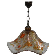 Vintage Hanging Lamp with Differently Colored Glass Layers