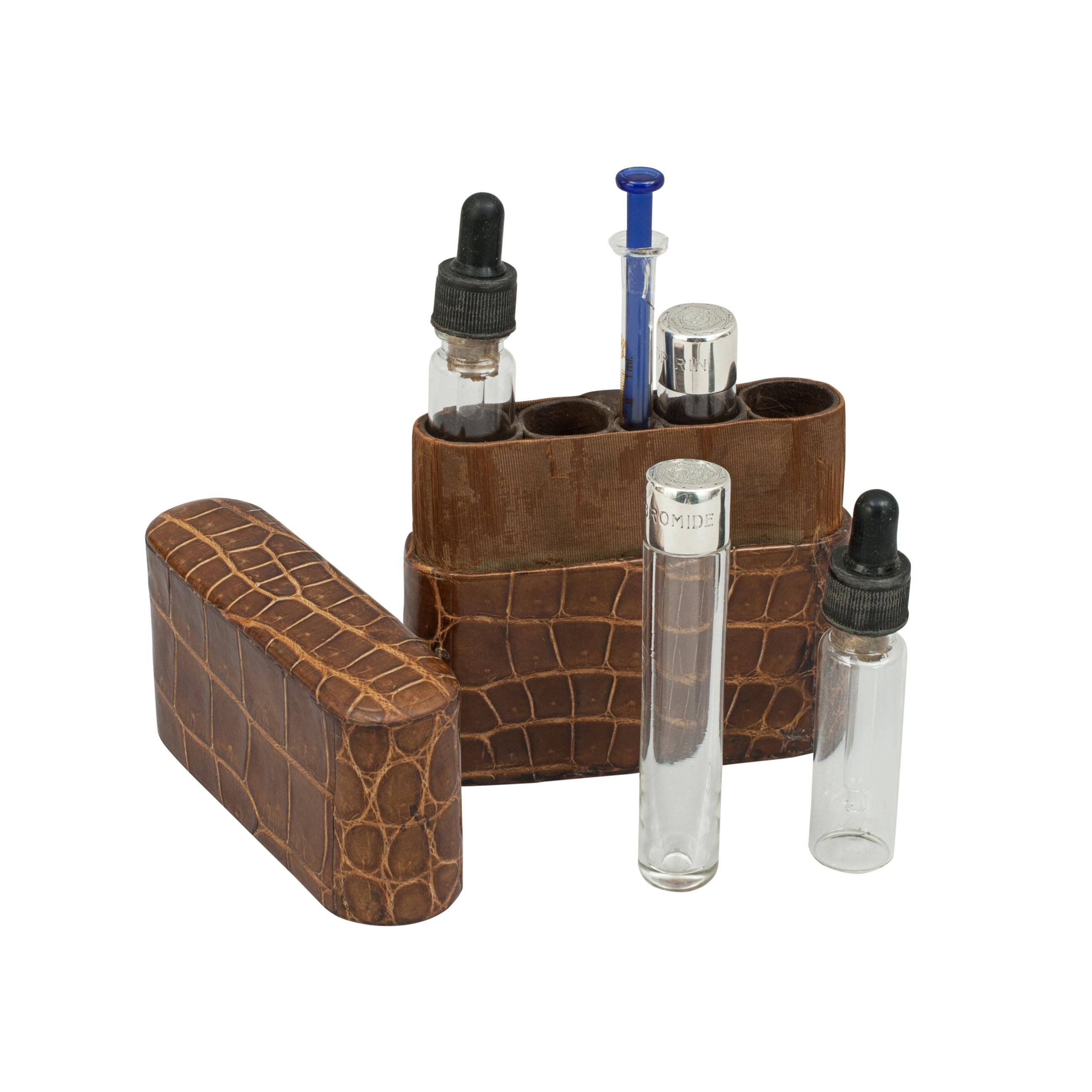 Vintage Hangover Cure Kit in Leather Case