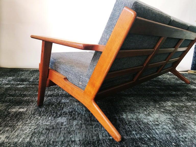 Mid-Century Modern Vintage Hans J. Wegner GE 290 3-Seat Sofa, circa 1950s For Sale