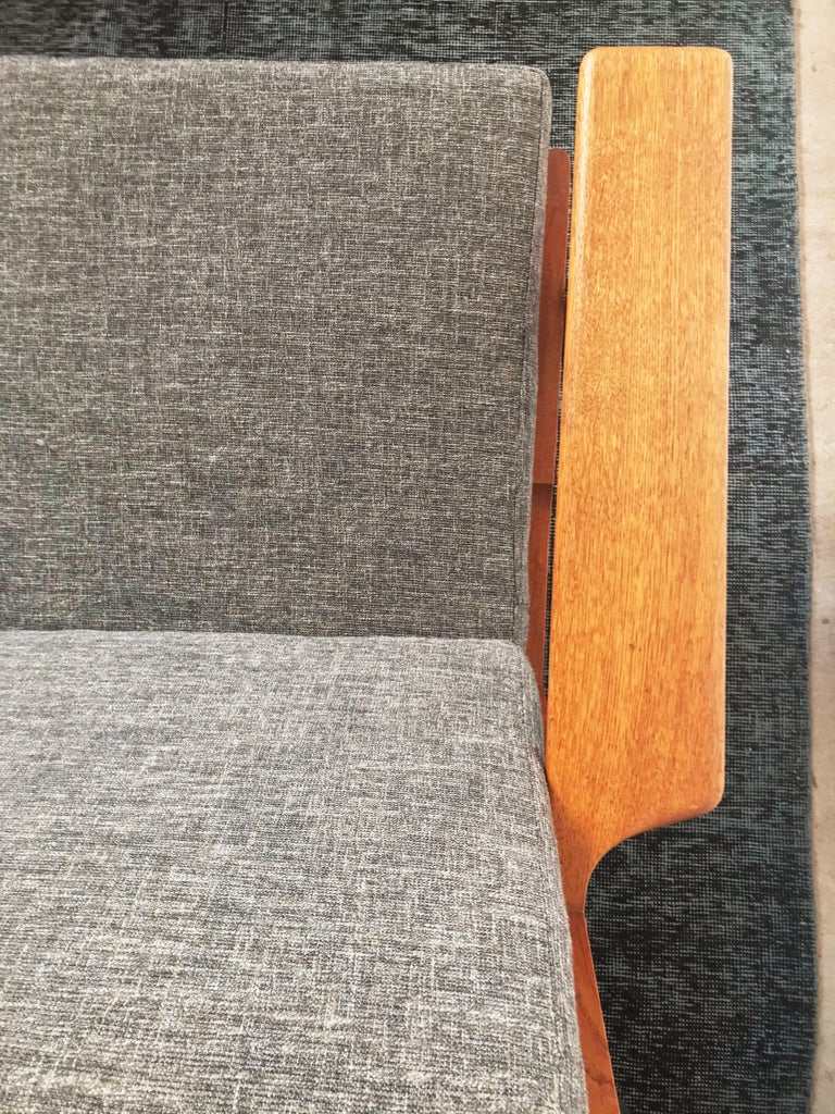 Upholstery Vintage Hans J. Wegner GE 290 3-Seat Sofa, circa 1950s For Sale