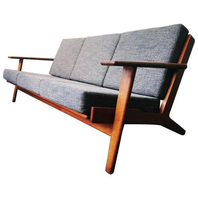 Vintage Hans J. Wegner GE 290 3-Seat Sofa, circa 1950s For Sale