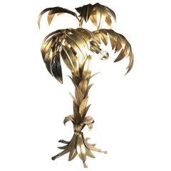 Vintage Hans Kögl Gilt Palm Tree, Table Lamp, 1970s