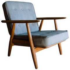 "Vintage Hans Wegner ""Cigar Chair"", Model GE - 240, Denmark, circa 1950"