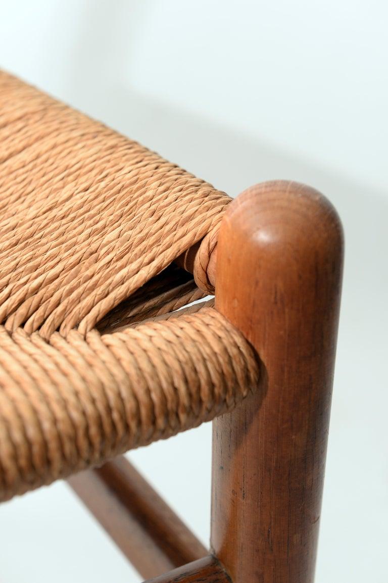 Scandinavian Modern Vintage Hans Wegner Wishbone Chair and a Jorgen Baekmark Stool, 1960s For Sale