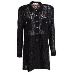 Vintage Hardy  Amies Black Evening Shirt