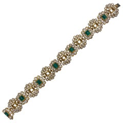 Vintage Harry Winston Emerald Diamond Bracelet