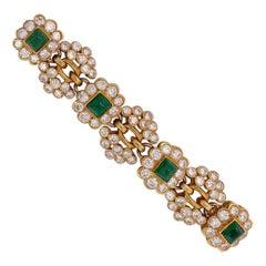 Vintage Harry Winston Emerald Diamond Bracelet