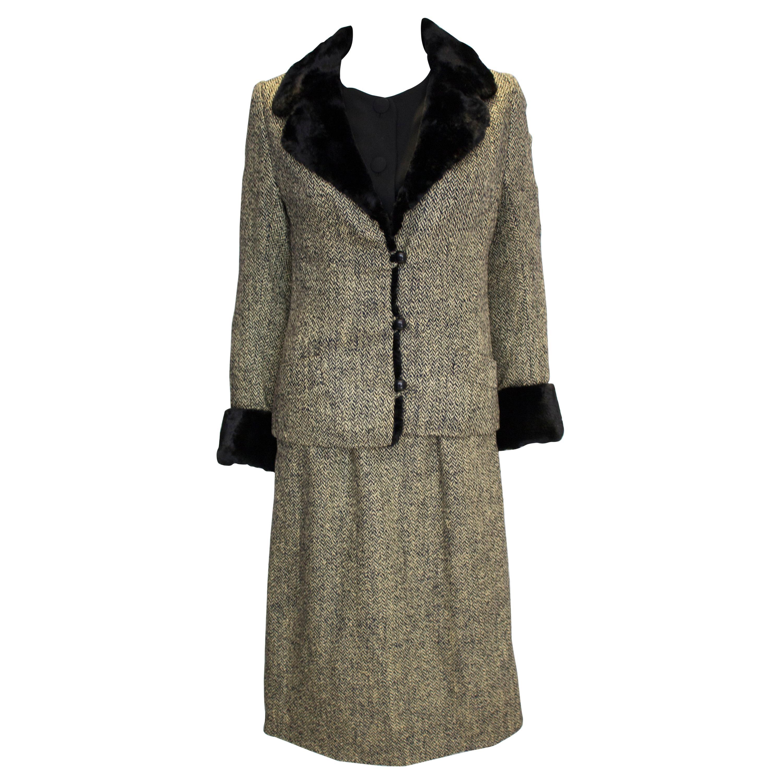 Vintage Hartnell Dress and Jacket.