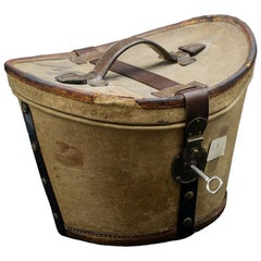 Vintage Hat Box with Hat, Early 20th Century