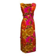 Vintage Hawaian Multi Colour Long Gown
