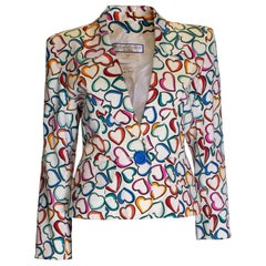Vintage Heart Print Jacket by Yves Saint Laurent