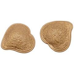 Vintage Hearts Clip-on Earrings 1990s