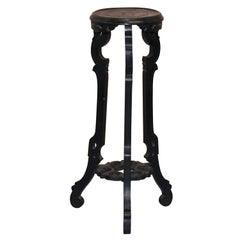 Vintage Heavily Distressed 19th Century Chinese Export Ebonised Jardiniere Stand