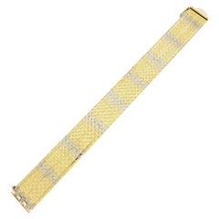 Vintage Heavy 18 Karat Gold Bracelet