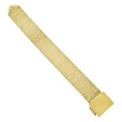 Vintage Heavy Solid 14k Gold Wide Adjustable Fancy Link Chain Buckle Bracelet