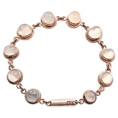 Vintage Heirloom Moonstone Sterling Bracelet
