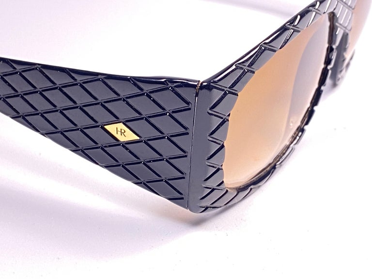 Women's or Men's Vintage Helena Rubinstein Black Mask Quilted Sunglasses France For Sale