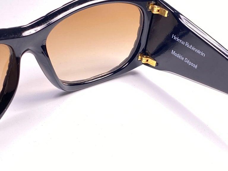Vintage Helena Rubinstein Black Mask Quilted Sunglasses France For Sale 1