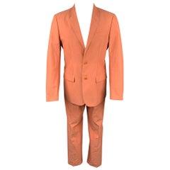 Vintage HELMUT LANG Size 38 Coral Cotton Notch Lapel Suit