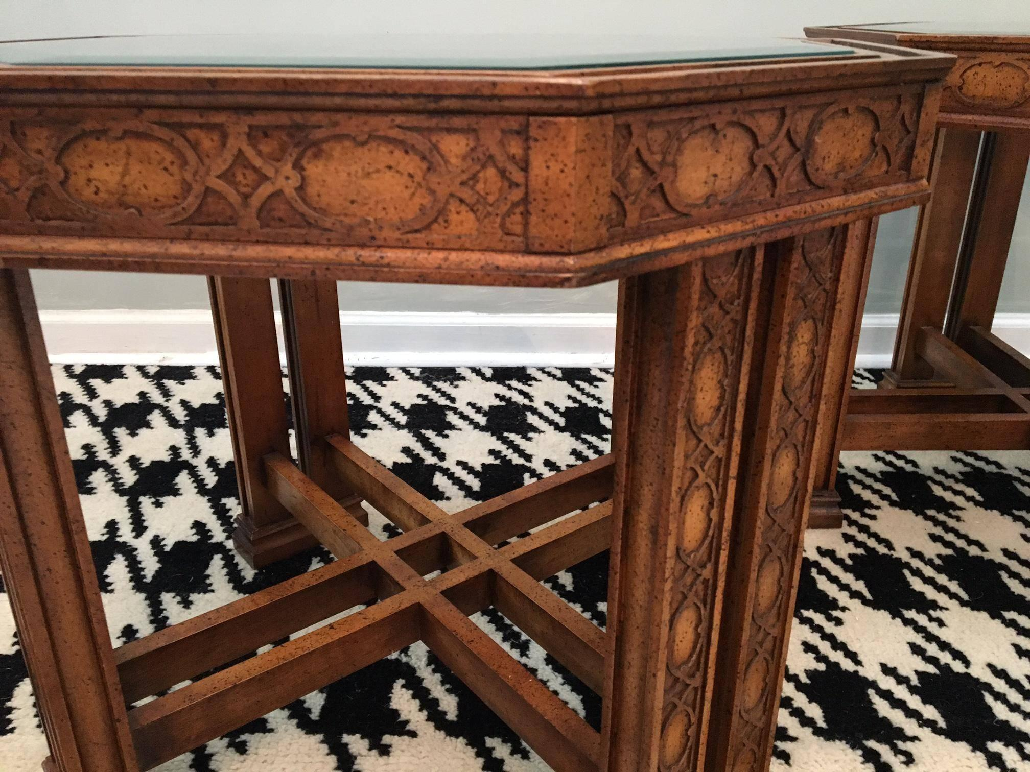 Excellent Vintage Henredon Asian Chinoiserie End Tables At 1Stdibs Andrewgaddart Wooden Chair Designs For Living Room Andrewgaddartcom