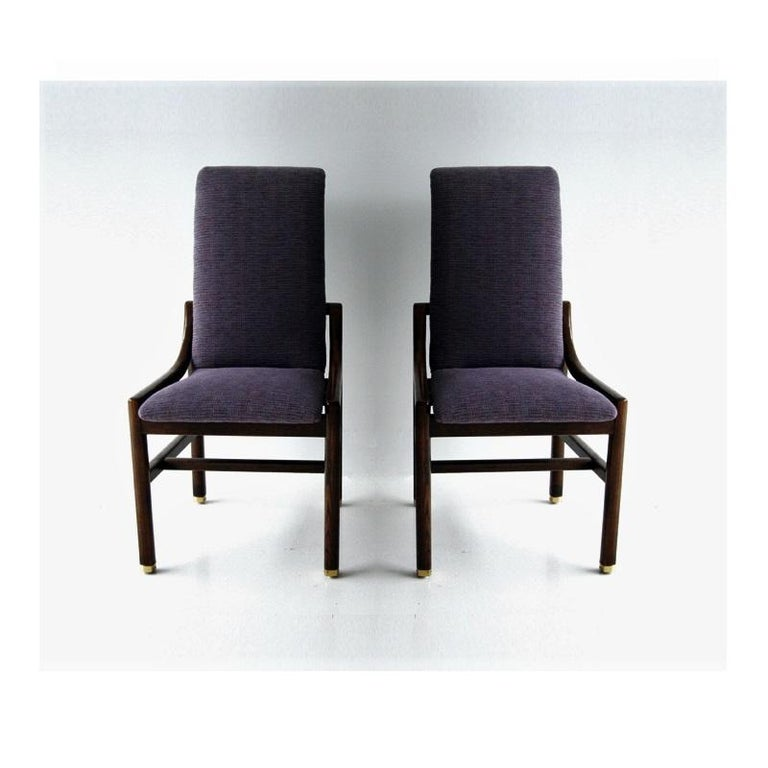 Vintage Henredon Purple Upholstered Dining Chairs, Set of 8 In Good Condition For Sale In Dallas, TX