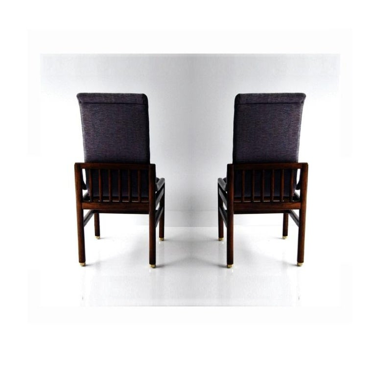 Late 20th Century Vintage Henredon Purple Upholstered Dining Chairs, Set of 8 For Sale