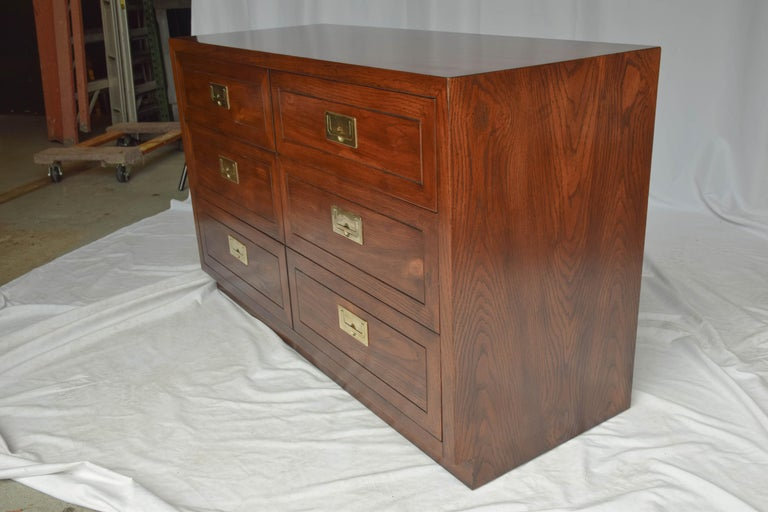 American Vintage Henredon Scene One Campaign Bachelors Chest For Sale
