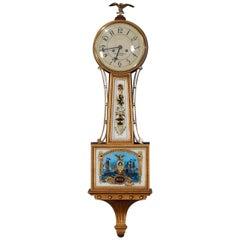 Vintage Henry Ford Museum Reproduction of Aaron Willard Mahogany Banjo Clock