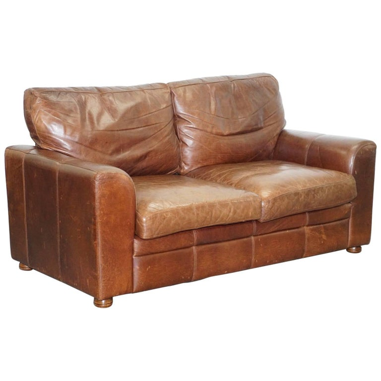 Heritage Aged Brown Leather Halo Soho