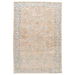 "Vintage Heriz Room Size Wool Rug. 7'6""x11'"