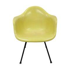 Vintage Herman Miller Yellow Fiberglass Eames Shell Armchair H-Base 'A'