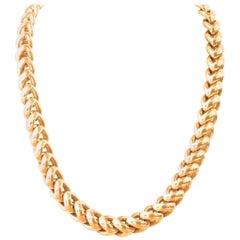 Vintage Hermes 18 Karat Yellow Gold Necklace