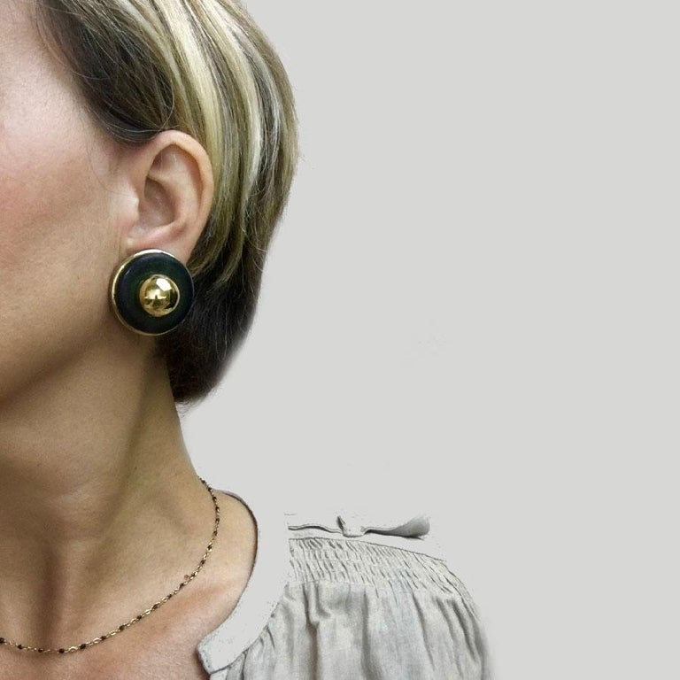 Vintage Hermès Clip Earrings In Good Condition For Sale In Paris, FR