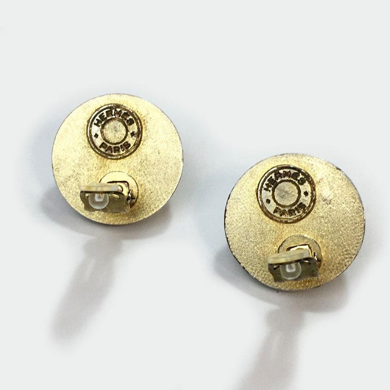 Vintage Hermès Clip Earrings For Sale 1
