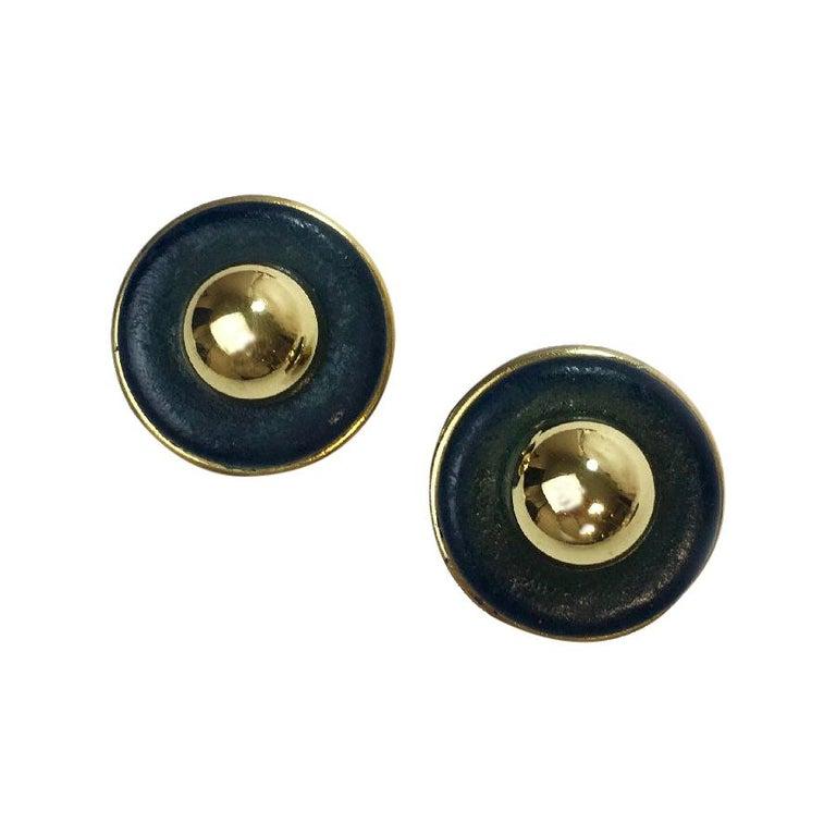 Vintage Hermès Clip Earrings For Sale
