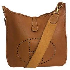 Vintage Hermès Evelyne GM I in cognac colored leather