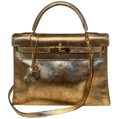 Vintage Hermes Gold Foil Kelly 32