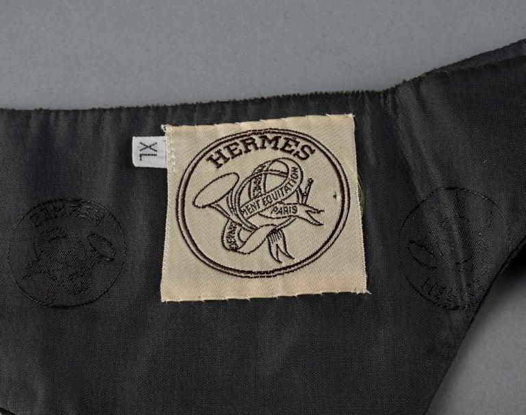 Vintage HERMES Gold Horn Moss Green Velvet Tuxedo Belt For Sale 7