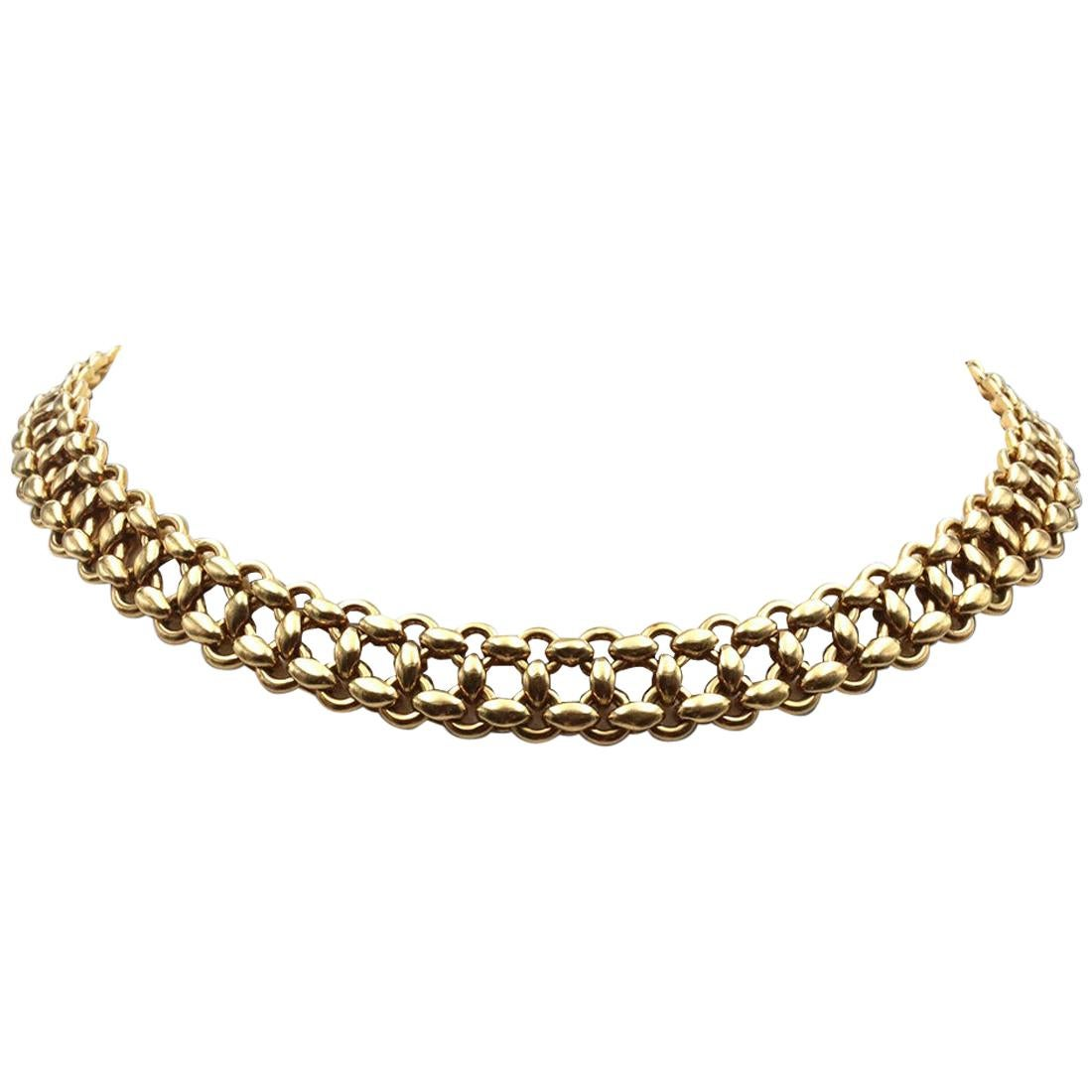 Vintage Hermès Inti Yellow Gold Necklace